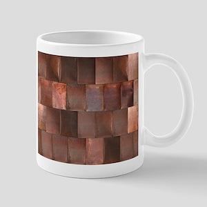 Distressed Copper Metal Stainless Steel Travel Mug