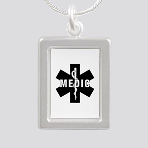 Medic EMS Star of L... Silver Portrait Necklace