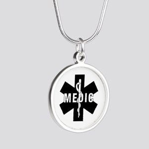 Medic EMS Star of L... Silver Round Necklace