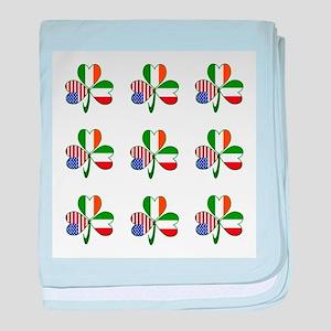 White Italian Shamrocks 9 baby blanket