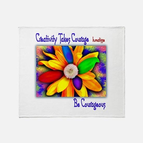 Creativity Flower Throw Blanket