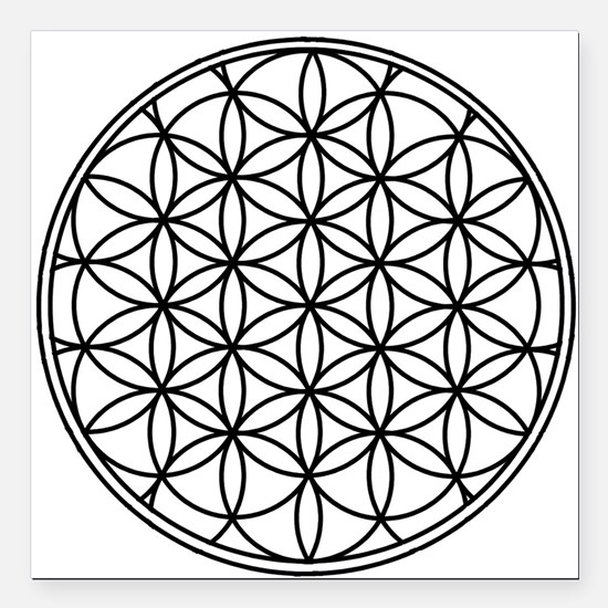 "Flower of Life Square Car Magnet 3"" x 3"""