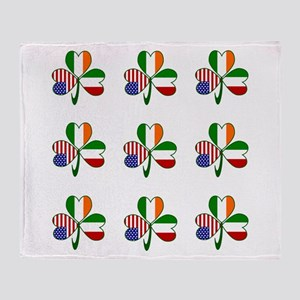 White Italian Shamrocks 9 Throw Blanket