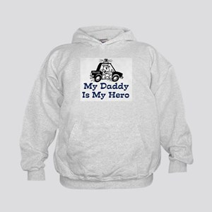 My Daddy Is My Hero (Policeman) Kids Hoodie