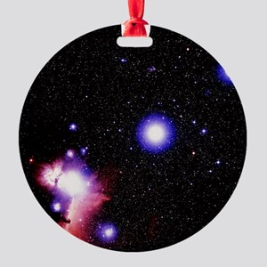 tars of Orion's belt - Round Ornament (Aluminum)