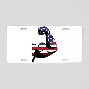 American Muscle Biceps Aluminum License Plate