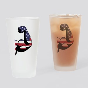 American Muscle Biceps Drinking Glass
