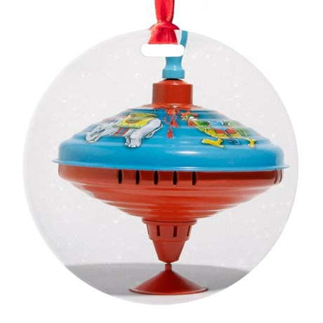 Spinning top - Round Ornament (Aluminum)