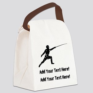 Personalize It, Fencing Canvas Lunch Bag