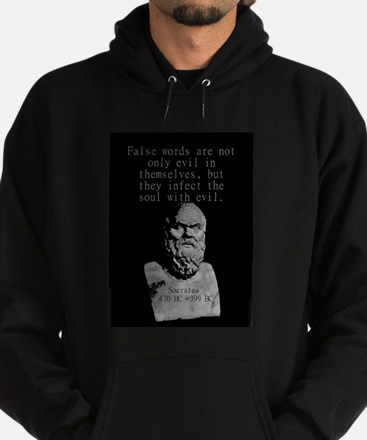 False Words Are Not Only Evil - Socrates Sweatshir