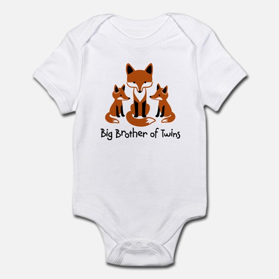 Big Brother of Twins - Mod Fox Infant Bodysuit