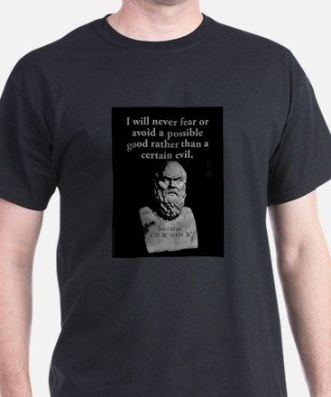 I Will Never Fear Or Avoid - Socrates T-Shirt