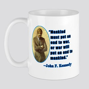 JFK Anti War Quotation Mug