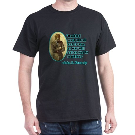 John F Kennedy Quotation Black T-shirt