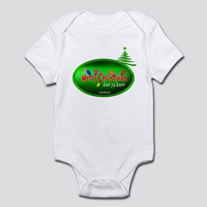 """It's Merry Christmas""""Don't Ya Know""""Infant Onsie"""