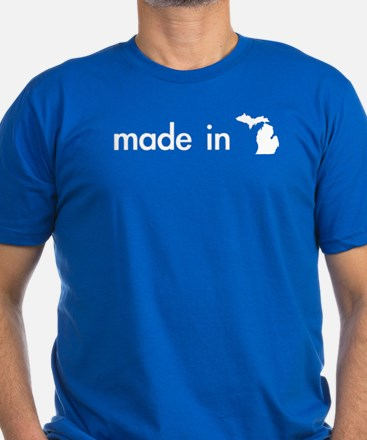Made in... Men's Fitted T-Shirt (dark)