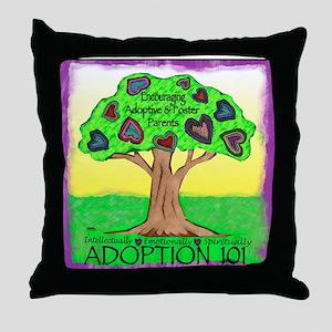 Adoption 101 Throw Pillow
