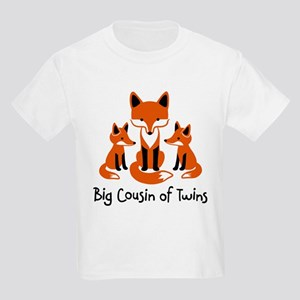Big Cousin of Twins - Mod Fox Kids Light T-Shirt