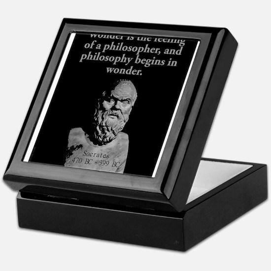 Wonder Is The Feeling - Socrates Keepsake Box