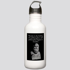 Wonder Is The Feeling - Socrates Water Bottle