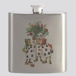 ALICE- PAINTING THE QUEENS ROSES Flask