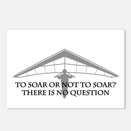 To Soar or Not To Soar-hang gliding Postcards (Pac