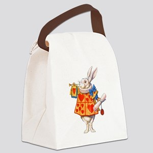ALICE - THE WHITE RABBIT Canvas Lunch Bag