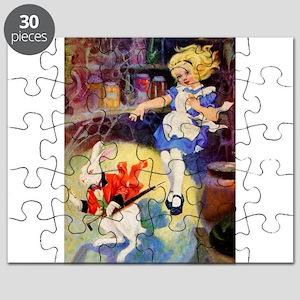 Alice DOWN HE RABBIT HOLE Puzzle