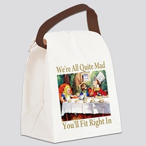 WE'RE ALL QUITE MAD Canvas Lunch Bag