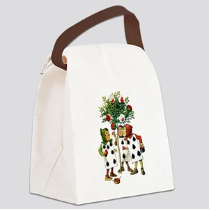ALICE- PAINTING THE QUEENS ROSES Canvas Lunch Bag