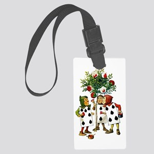 ALICE- PAINTING THE QUEENS ROSES Large Luggage Tag