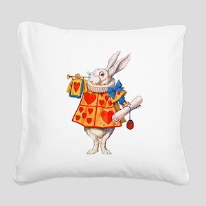 ALICE - THE WHITE RABBIT Square Canvas Pillow