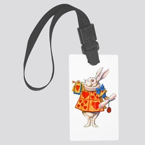 ALICE - THE WHITE RABBIT Large Luggage Tag