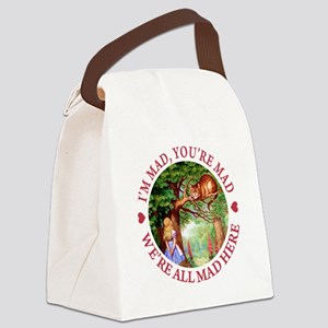 WE'RE ALL MAD HERE Canvas Lunch Bag