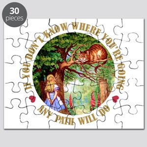 ALICE CAT ANY PATH WILL DO_GREEN Puzzle