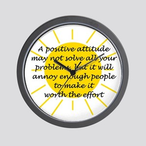 Positive Attitude Wall Clock