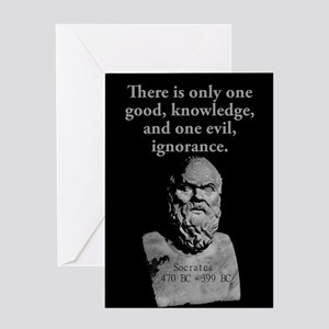 There Is Only One Good - Socrates Greeting Card