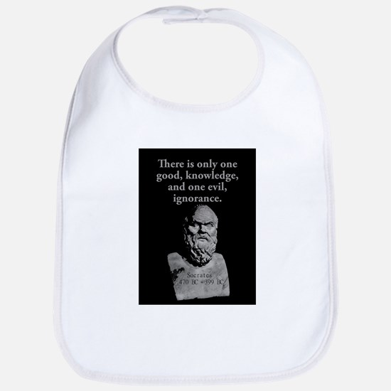 There Is Only One Good - Socrates Cotton Baby Bib