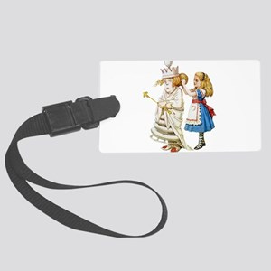 Alice WHITE QUEEN SOLO_RD Large Luggage Tag