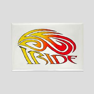 I Ride Tribal Bike Rectangle Magnet
