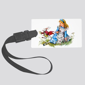 ALICE_RED RABBIT copy Large Luggage Tag