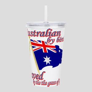australian by birth Acrylic Double-wall Tumbler