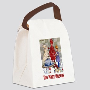 Alice_Folkard018x2many_queens Canvas Lunch Bag