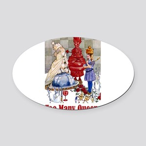 Alice_Folkard018x2many_queens Oval Car Magnet