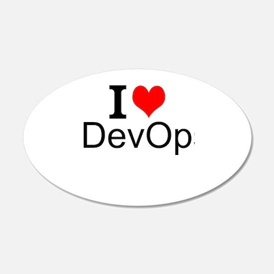 I Love DevOps Wall Decal
