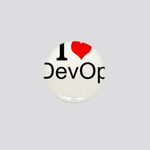 I Love DevOps Mini Button