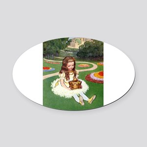 2-ALICE_149_10x14 Oval Car Magnet