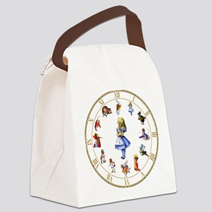WONDERLAND_Clock Canvas Lunch Bag