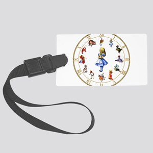 WONDERLAND_Clock Large Luggage Tag