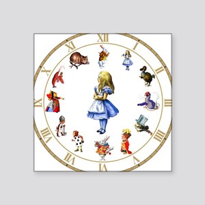 "WONDERLAND_Clock Square Sticker 3"" x 3"""
